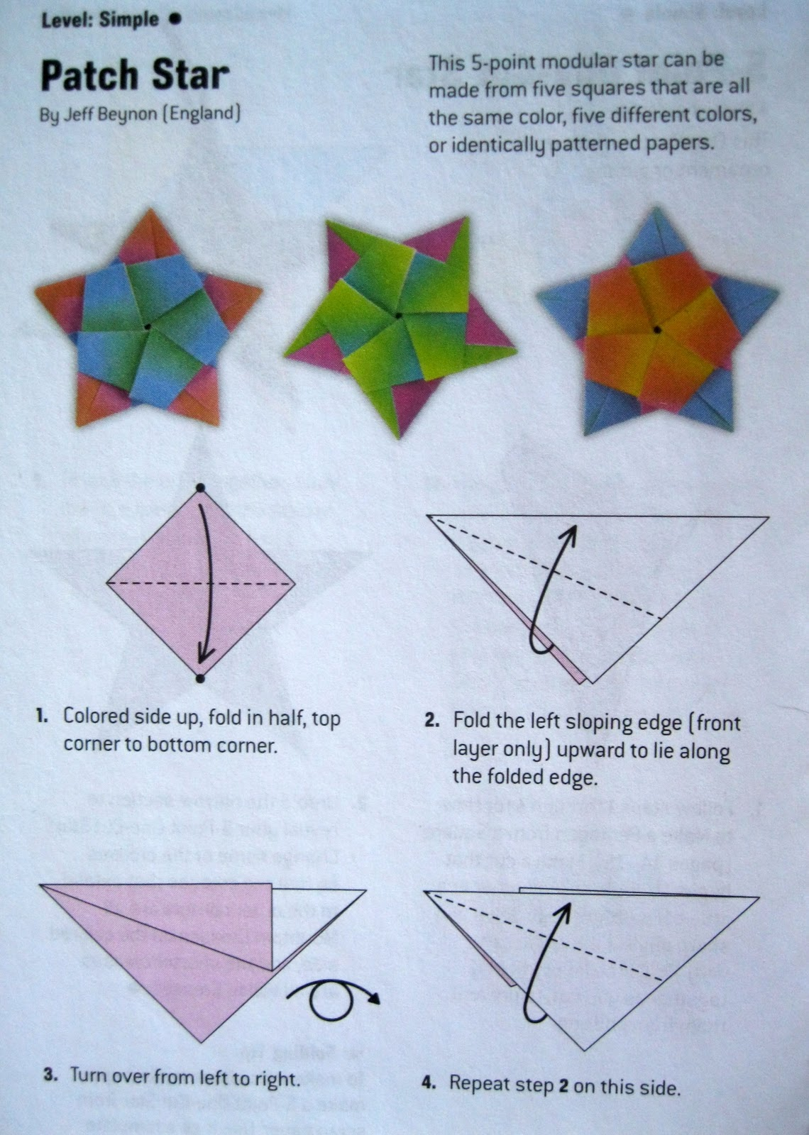 Paper stars how to make 5 pointed 3 d craft thyme - Origami Directions For A Five Pointed Star