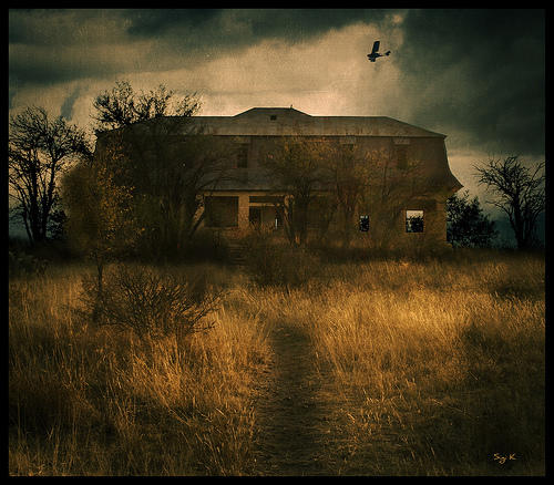 golden abandoned house