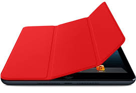 iPad mini with red cover
